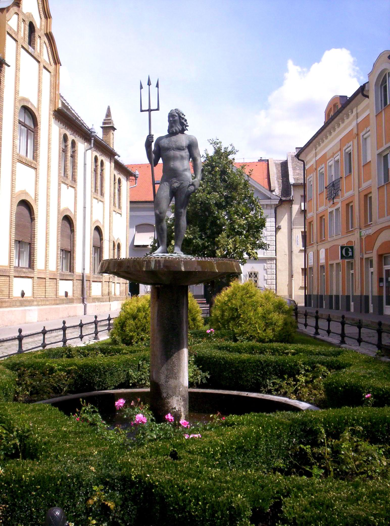 Sculptures Pos 233 Idon Neptune Dieu Des Mers Mythologie Grecque