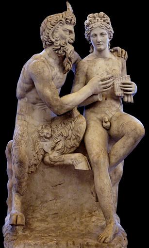 Sculptures Pan Faune Mythologie Grecque